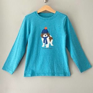 Janie and Jack Saint Bernard Dog Tee Size 5 Teal